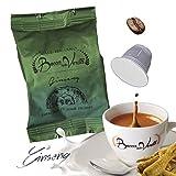 Café cápsula GINSENG Nespresso compatible | 50 Cápsulas Bocca Della Verità | Café Italiano de Calidad Superior.