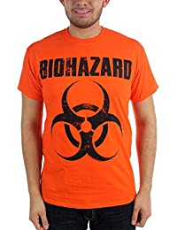 Biohazard - - T-shirt de logo classique Homme à Orange