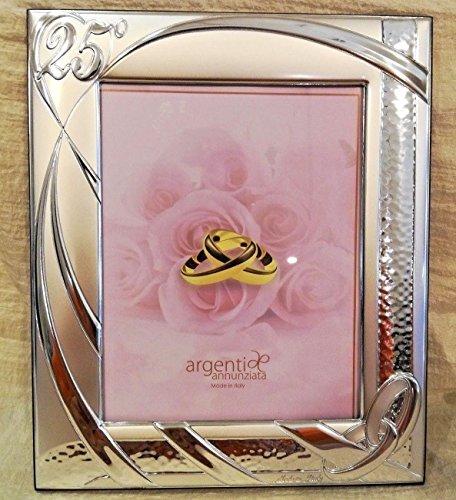 L'angolo barletta bomboniere regalo 25 anni matrimonio cornice portafoto fedi nozze argento media