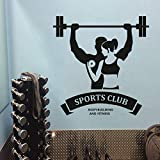 xingbuxin Sport Club Logo Wandaufkleber Bodybuilding Und Fitness Wandkunst Aufkleber Gym Studio...