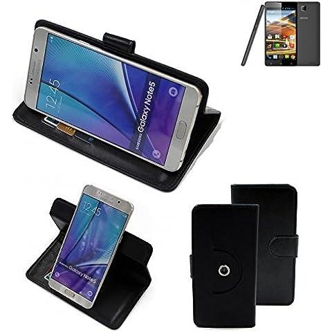 360 ° della copertura della cassa Smartphone Archos 50 Neon, nero | Cassa del raccoglitore stand funzione Bookstyle. Migliore prezzo, migliore prestazione - K-S-Trade