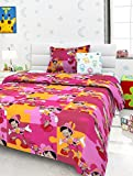#2: Story@Home Colorful Kids 136 TC Cotton Single Bedsheet with 1 Pillow Cover - Multicolour