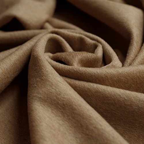 Camel Moleskin Fell Stoff-Natürlich Beige Farbe Beschichtung mit kurzem Flor, 150cm breit, Meterware, -