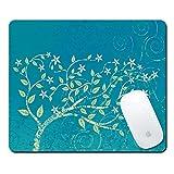 Gaming Rubber Mauspad,Kreative Anti-Rutsch Maus Pad,Pershoo Elegant Schön Retro Cool Cute Funny Blau Baum Drucken Entwurf Große Größe Weich Gemütlich Mouse Mat für Laptop Desktop Mousepad für Jungen und Mädchen-Blue Tree