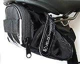 VeloChampion Glatte Satteltasche - Schwarz Slick Seatpack Fahrrad Black