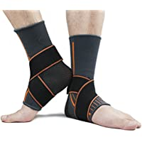 Fußgelenk Bandage Fussbandage Knöchelbandage Sprunggelenk mit Klettverschluss Schmerzlinderung Arthritis Verstauchungen und Sport für Herren Damen