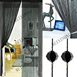 UNIAI Crystal Plain Tassel Door Curtain - 90x200cm Door String Tenda Thread Fringe Window Panel Room Divisorio Carino Strip Tassel Party Eventi
