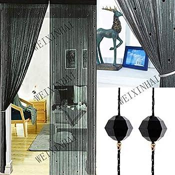 Uniai Crystal Plain Tassel Door Curtain 90x200cm Door