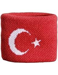 Digni® Poignet éponge avec drapeau Turquie