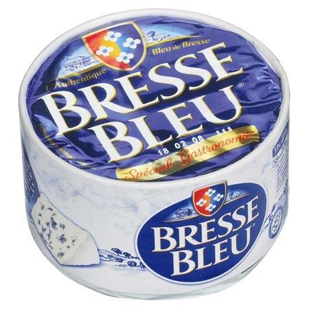 Bresse Bleu Blauschimmelkäse französischer Weichkäse mit Weiß- + Blauschimmel, 55% Fett 500 g