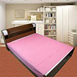 Baby Waterproof Plastic Sheet- Double Bed/Baby-Adult Waterproof Mattress Protector by GoodLuck (80 Inch * 90 Inch) (Pink)