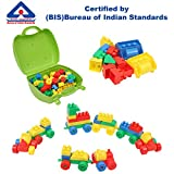 #3: Kurtzy DIY Creative Building Block Puzzle Set Toy Multicolor for Kids Children