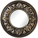 Antique Small Size Decorative Mirror Antique Royal Border Copper Colour Design Mirror For Home Table And Wall Hanging Mirror For Home And Office Decor