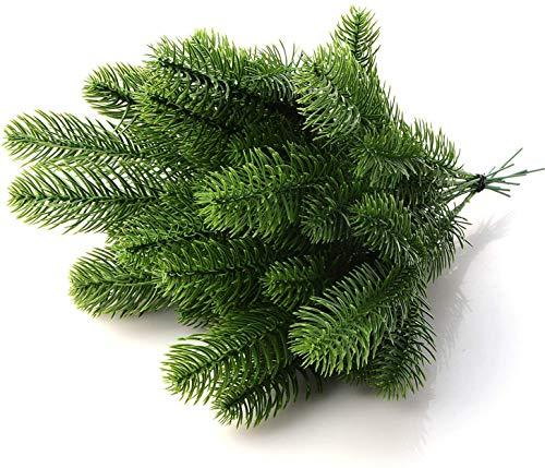 30 piezas de ramas de pino artificiales falsas púas de pino guirnalda...