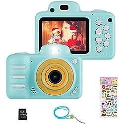 Vannico Appareil Photo numérique pour Enfants avec Carte SD 16 Go