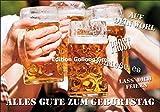 Glückwunschkarte zum Geburtstag * Bier * Auf Dein Wohl