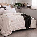 SBD Premium de Luxe Daunendecke 100% Baumwollgewebe Gesteppte Bettdecke Leichte Bettwäsche Bettdeckeneinsatz Hypoallergen-EIN_220 x 240 cm daunendecke Kinder 135x215
