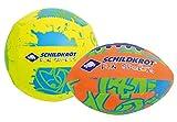 Schildkröt Neopren Mini-Ball Duo-Pack, 2er Set Mini-Bälle, 1 Volley, 1 American Football Ø ca. 9cm, griffig und salzwasserfest, Ideal für Strand 970281