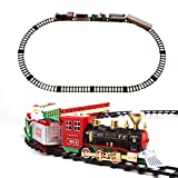 Il regalo di Natale fai-da-te Luci emette fumo Simulazione Effetti sonori Classico Treno a vapore Regali for vagoni