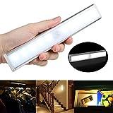 KYC Battery-Powered White LED Light ,Stick On Anywhere,Cordless Motion Sensor Night Light for Cabinet,Garages,Closet,Bathroom (1PCS)