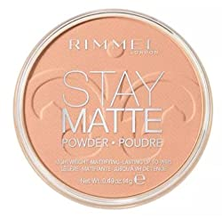Rimmel London Stay Matte Pressed Powder, Amber, 14g