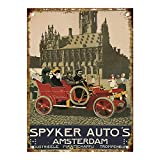 Taco Thursday Spyker's Automobiles Amsterdam Pintura de Hierro Cartel de Metal Vintage Cartel de Chapa Cartel de Pared Placa para hogar Dormitorio Garaje Dormitorio Cafetería