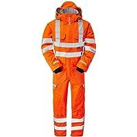 Pulsarail Foul Weather Coverall, Large, Hi-Viz Orange