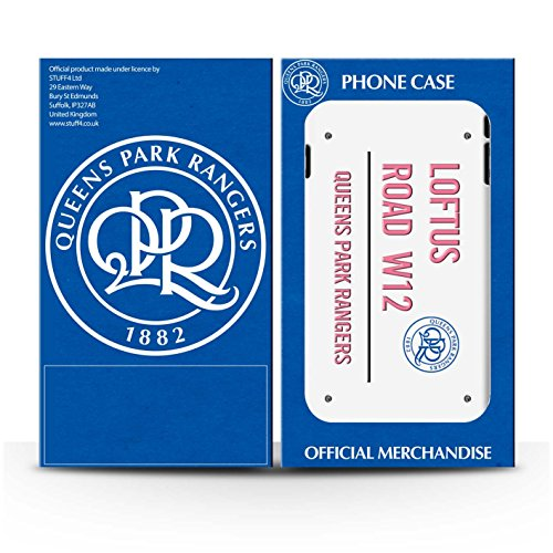 Officiel Queens Park Rangers FC Coque / Etui pour Apple iPhone 7 / Noir/Bleu Design / QPR Loftus Road Signe Collection Blanc/Rose
