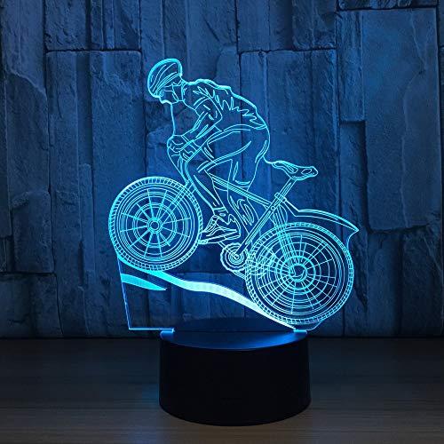 GBBCD Nachtlicht Sonnenbrille Mann Form 3D Nachtlicht 7 Farben Ändern Led Acryl Schreibtisch Tischlampe Usb Innendekor Schlaf Beleuchtung Geschenke