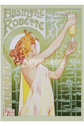Elite M2Livemont Absinthe Zeigt Werbung Retro Absinthe Robette Grand Jugendstil Poster 61von...