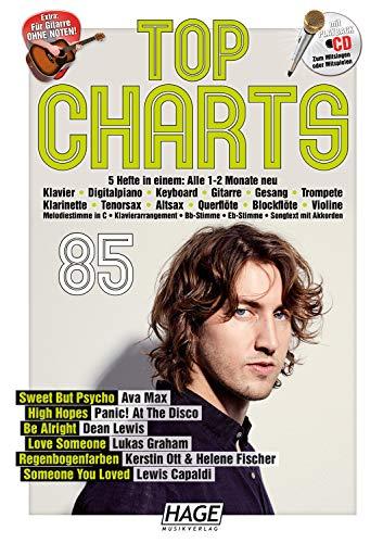 Top Charts 85 (mit CD): Die aktuellsten Hits der erfolgreichsten Stars und das Beste aus den Charts! - Der Cd Mit Gesang-buch
