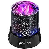 Discokugel, DIGOO Starlight Party Lichter, Nachtlicht Lichter Lampenlichter von 4 Farbe, Projektionslampe, Effektlicht für Weihnachten Ball Zimmerdekoratio Parties Kinder Geburtstag Club