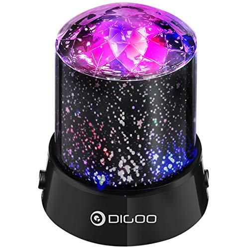 Boule à facettes, lumières DIGOO Starlight Party, lumières de nuit, lumière de la lampe de 4 couleurs, lampe de projection, effet de lumière pour la décoration de la salle