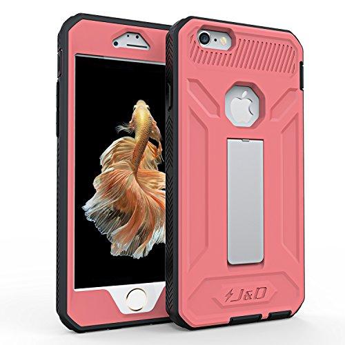 Coque iPhone 6S Plus, iPhone 6 Plus, J&D [Double Couche] Coque de Protection Robuste Antichoc et Hybride pour iPhone 6S Plus, iPhone 6 Plus - Violet Rose