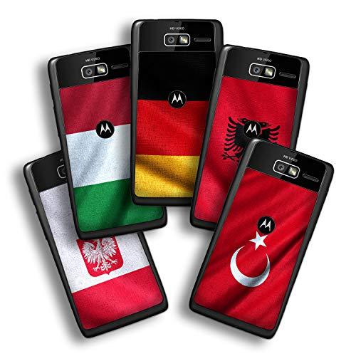 atFolix Designfolie kompatibel mit Motorola Razr i, Skin Aufkleber (Flaggen aus Europa) -