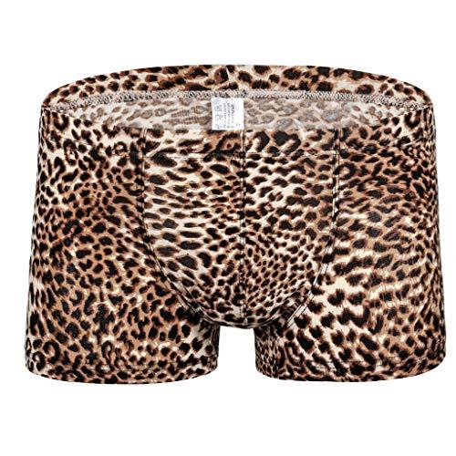 M-2XL Boxershorts Unterwäsche Männer Leopard Schlüpfer Herren Unterhose Retroshorts Underwear Panties Briefs Underpants Unterhosen CICIYONER