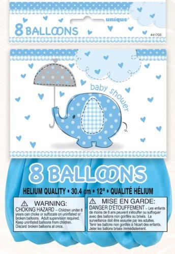 Unique Party 105.930,7cm CO Umbrellaphants blau Baby Dusche