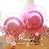 Best Headdresses - Veena Pink Pet Dog Hair Accessories Flower Hairclip Review