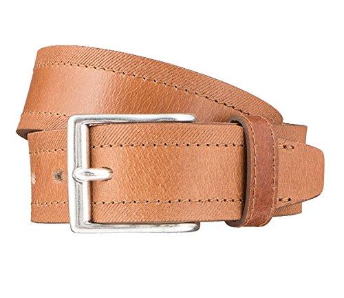 LLOYD Men's Belts Gürtel Herrengürtel Ledergürtel Herrenledergürtel Beige 3320, Farbe:Braun, Länge:85