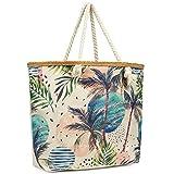 Matyfashion Strandtasche Damen Badetasche mit Reißverschluss Shopper Beach Bag Schultertasche XXL /...