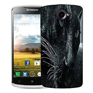 Snoogg Black Cat Designer Protective Phone Back Case Cover For Lenovo S920