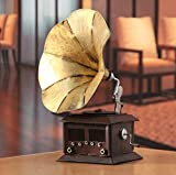 Gramófono antiguo modelo Europeo Decoresd Props tienda de decoración de hierro Salón decoración...
