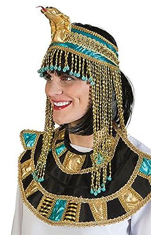 Fancy Ole - Kleopatra Haarband Schlangen Optik Antike Kostüm- Kopfschmuck Schmuck Orient Cleopatra goldglänzend, (Deutschen Offizier Hut Kostüm)