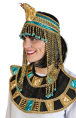 Fancy Ole - Kleopatra Haarband Schlangen Optik Antike Kostüm- Kopfschmuck Schmuck Orient Cleopatra goldglänzend, Mehrfarbig