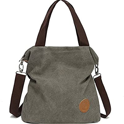 Myhozee Women Handbag shoulder Bag Canvas-Vintage Hobo Top Handle Shopping Crossbody Bag Tote Travel Casual Beach multifunction Bags