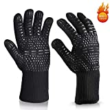 Aibeau BBQ Gloves Grill Gloves, Heat Resistant Up to 800 ° C Universal