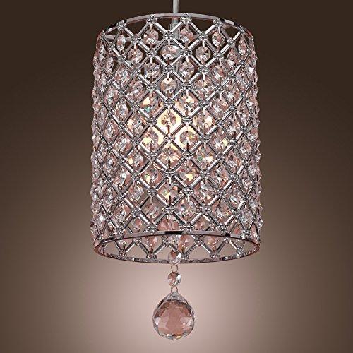 Glighone Lámpara Colgante Cristal 40W Lámpara de Techo Luz Moderna L