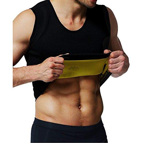 LiGG Herren Tank Top Taille Shapewear Waist Trainer Neopren Saunaweste Sauna Schwitzanzug Körperformer für Gewicht Loss Figurformender