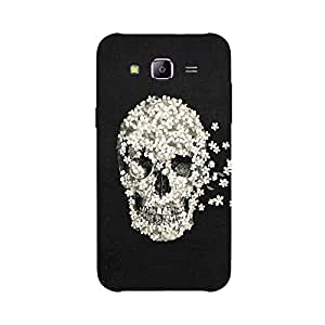Back cover for Samsung Galaxy J2 Floral Skull