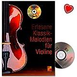 erlesene de Mélodies pour violon classique-Tous les grands compositeurs dans ce lehrbuch de Kurt Oiseaux-lehrbuch avec CD et coloré Cœur Note Pince